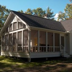 trailer remodels with screened porch | new screen porch addition with high beadboard ceilings and open views