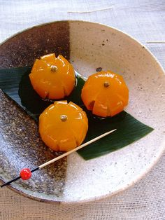 Simmered Kumquats in Syrup 金柑の甘露煮 #plating #presentation #dessert