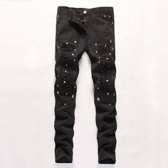 29.99$  Buy now - https://alitems.com/g/1e8d114494b01f4c715516525dc3e8/?i=5&ulp=https%3A%2F%2Fwww.aliexpress.com%2Fitem%2FBrand-Leisure-WHite-Brown-Jeans-Men-Denim-Pencil-Pants-Designed-Beading-Frazzle-Slim-Long-Trousers-Casual%2F32727237294.html - Brand Leisure WHite Brown Jeans Men Denim Pencil Pants Designed Beading Frazzle Slim Long Trousers Casual Biker Jeans YY809