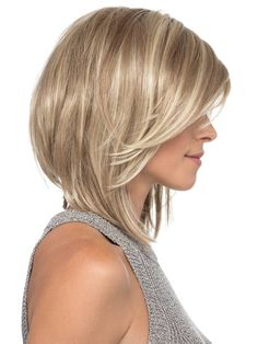 With Bangs 12 Chin Length Blonde Lace Front Ladies Wigs Stacked Bob Hairstyles, Short Hairstyles For Women, Hairstyles Haircuts, Shaggy Haircuts, Party Hairstyles, Hairstyle Ideas, Lange Blonde, Bobs For Thin Hair, Thick Hair
