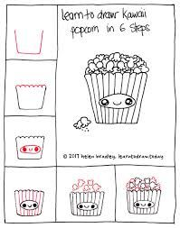 Image result for draw a kawaii step by step popcorn