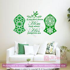 Muhammad (pbuh) Nalain Mubarak Islamic Wall Stickers nalayn Pak Art Wall Decal