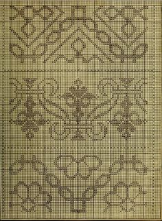 Cross Stitch Borders, Cross Stitch Designs, Cross Stitch Patterns, Embroidery Applique, Cross Stitch Embroidery, Embroidery Patterns, Embroidery Books, Blackwork Patterns, Filet Crochet Charts