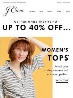 Up to 40% off shirts (Secret Wash, chambray, Irish linen & LOTS more) - J.Crew