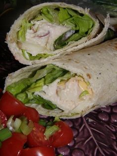 Weight Watchers 4 Pt Chicken Salad Wrap from Food.com:   I created this recipe using the recipe builder on the weight watchers website, so if you use the exact ingredients Ive listed it is only 4 points per serving!