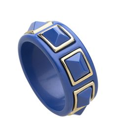 Gold trimmed pyramid bangle- love the cobalt blue