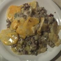 Scalloped Potato and Ground Beef Casserole