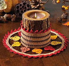 Shades of Autumn Doily Free Crochet Pattern