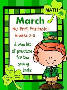 You've Taught the Lessons - Time For Some Review...St. Patrick's Style!Common Core Aligned: 3.NBT.13.NBT23.OA.13.OA.23.OA.33.OA.43.OA.53.OA.73.OA.83.NF.13.NF.2a3.NF.2b3.NF.3b3.NF.3c3.NF.3d3.G.13.G.2A Wee Bit of Practice In:Place ValueRounding Addition of Large NumbersSubtraction of Large NumbersRelating Multiplication and DivisionPractice Multiplication and DivisionMultiple Step Word ProblemsComparingNaming Fraction PartsFraction PracticeFractional Parts of Whole NumbersComparing…