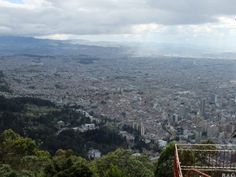 Bogota vue de la montagne de Monstserrate.