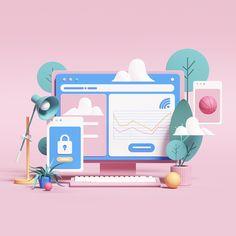 Commercial Works on Behance Web Design, Graphic Design, Motion Design, 3d Cinema, Essay Writing Help, Saatchi & Saatchi, 3d Studio, Flat Illustration, 3d Illustrations