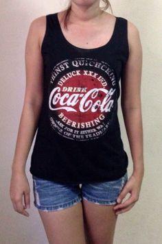 Coca Cola Logo Design Sexy Shirt  Side Boob Tank Tops  by PetaThai, ฿420.00