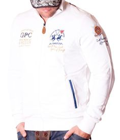 La Martina GPC Great Park Zip Hoodie - White Color: white 2 side pockets La Martina Logo embroidery on the left side of chest GPS Great Park embroidery on the. Windsor, White Hoodie, Zip Hoodie, Martini, Parka, Designer Clothing, Hoodies, Formal, Jackets