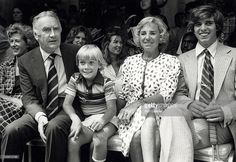 Actor Ricky Schroder, Hugh Carey, Ethel Kennedy and Michael Kennedy attending 'Gala for Eighth Annual RFK Tennis Tournament' on August 14, 1979 at the Plaza Hotel in New York City, New York.