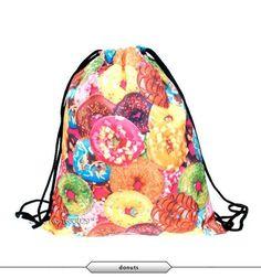 Escolar backpack 3D printing travel softback man women mochila feminina fast food drawstring bag mens backpacks