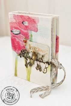 How to make ths canvas covered mini book!!
