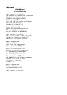 childhood michael jackson lyrics - Google Search