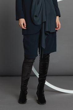 Cropped Cocoon Pant - Ink