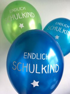 Luftballons für das Schulkind zum Schulanfang / enrollment party balloons made by Ooh-Happy-Day via DaWanda.com
