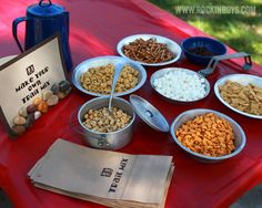 Camping Birthday Party: Trail Mix - Free Printable