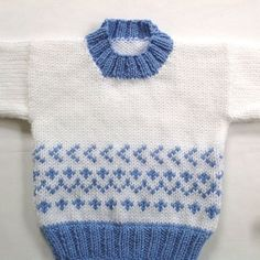 Fair Isle baby sweater - 6 to 12 months - Baby shower gift - Infant hand knit pullover - Baby girl sweater - Baby boy sweater - Gift Fair Isle Knitting Patterns, Baby Cardigan Knitting Pattern, Baby Boy Knitting, Knitting For Kids, Hand Knitting, Knitting Sweaters, Sweater Patterns, Baby Girl Sweaters, Knitted Baby Clothes