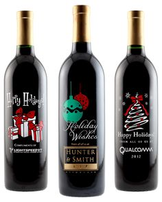 """Looking to """"Wow"""" your Clients? Send them a personalized hand painted wine bottle."""
