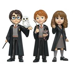 Funko Rock Action Figure - Harry Potter - 3 personagens  Você vai se divertir e colecionar estes lindos bonecos Funko Rocks de seus personagens favoritos!