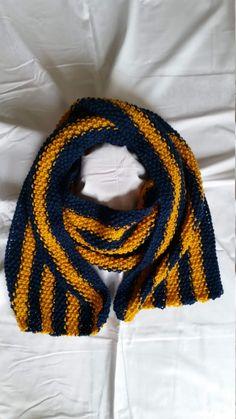 gestrickter Schal von StrickshopKreationen auf Etsy Etsy, Crochet, Fashion, Yellow Scarves, Blue Yellow, Scarf Knit, Women's, Crochet Hooks, Moda