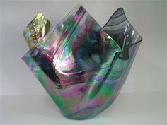 EDELWEISS GALLERY - Glass Vases made by my husband Mark...each is unique !