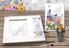 Colouring Cards  Australian Wildlife Friends  by ozwildlifestudio, $30.00