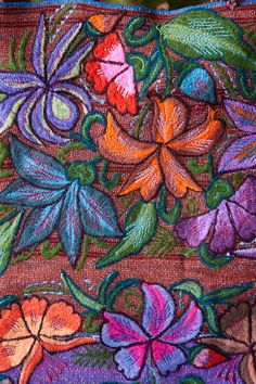 Zinacantan embroidery, whether by hand or machine, shows great artistry.||Thrums Books