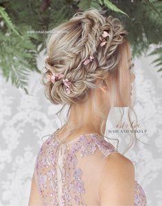 www.estahsumakeup.com Hair and makeup by Esta Hsu @esta_hsu_makeup  . Photography @antelopestudios  Gown @silhouette_the_atelier  Accessories @gioiellisg   . Deco & bouquet @fern.studio75 Model @c0rde #weddinghairupdos