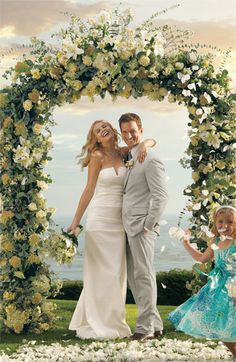 Beautiful arch for an outdoor ceremony