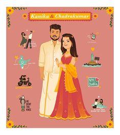Cute And Trendy E Invitation Designs For The Intimate Weddings E Invite, Invitation Card Design, Digital Invitations, Indian Wedding Invitation Cards, Wedding Cards, Wedding Card Design, Intimate Weddings, Cartoon, Creative