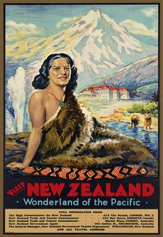 """New Zealand"" travel poster"