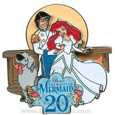 DLR - Featured Artist Collection - Disney's Little Mermaid Anniversary - Ariel and Prince Eric Disney Little Mermaids, Ariel The Little Mermaid, Disney Love, Disney Magic, Disney Art, Disney Stuff, Disney Films, Disney Pixar, Walt Disney