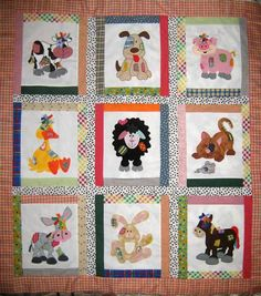 Image result for farm animal baby quilt pattern
