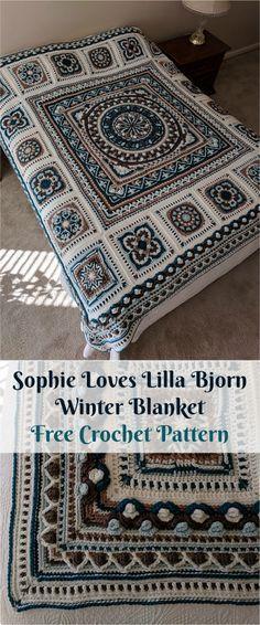 "Sophie ""Loves Lilla Bjorn"" Winter Blanket [Free Crochet Pattern] | Patterns Valley"