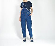CRAZY SALE - Vintage Kanion Denim Overalls / Workwear Boyfriend Hip Hop Style / Size S/M by Only1Copy on Etsy