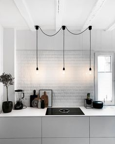 Romantic Home Decor Discover More Baffling Black Scandinavian Lighting Ideas 15 Magnificent Black Scandinavian Lighting Ideas Minimal design might have come and gone, however theres one iteration from. Interior Lighting, Home Interior, Kitchen Interior, Kitchen Decor, Interior Decorating, Lighting Ideas, Kitchen Ideas, Pole Barn House Plans, Pole Barn Homes