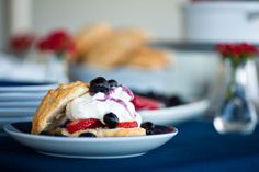 So so good. Berry shortcake with homemade biscuits. Photo by Terri Rippee Photography for Valley & Co.