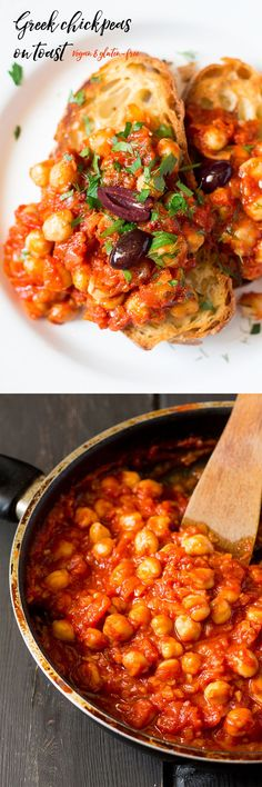 #greek #chickpeas on toast is such a simple and quick dish.