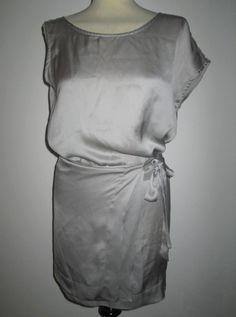 * * * ILARIA NISTRI Seidenwickelkleid silbergrau, Gr.I 40/D 36 * * * Ebay, Silver Ash, Clothing Accessories, Gowns