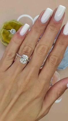 Cute Engagement Rings, Radiant Engagement Rings, Halo Diamond Engagement Ring, Different Engagement Rings, Wedding Rings Solitaire, Engagement Ring Settings, Ring Verlobung, Diamond Are A Girls Best Friend, Beautiful Rings