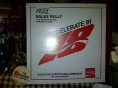 Coca Cola Sales Rally - Accelerate in '78 Album and California Compact Button