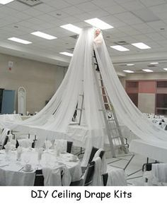 Gym reception firstdance my wedding pinterest reception ceiling draping kit for church liturgical seasons banners wedding ceiling decor reception decorating junglespirit Images