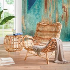 Sairah Rattan Side Table - outdoor living or basement Rattan Side Table, Dining Arm Chair, Side Chairs, Indoor Rattan Furniture, Rattan Chairs, Wicker, Round Beds, Affordable Home Decor, Comfortable Fashion