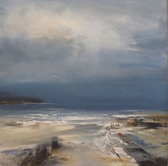 """""""Down to the Sea"""" by Jenny Hirst Landscape Artwork, Abstract Landscape, Abstract Art, Sea Art, Am Meer, Seascape Paintings, Beautiful Paintings, Oeuvre D'art, Les Oeuvres"""