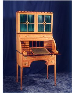 Thomas Sheraton's Cylinder Desk 1792; created from his original drawings, but a reproduction.
