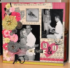 Scrapbook page by mom